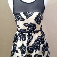 Rose Black & White Dress