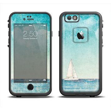 The Faded WaterColor Sail Boat Apple iPhone 6 LifeProof Fre Case Skin Set