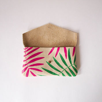 Palm Leaf Sunglass Case