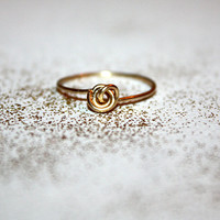gold nodu -  14k gold knot ring by lilla stjarna - ft. hand forged 14 karat gold - gifts under 50 - Valentine's Day