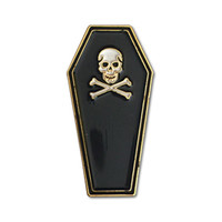 Skull Coffin Pin