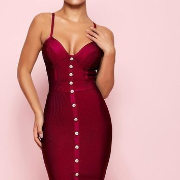 Angeline- Bandage Bodycon Bustier Dress