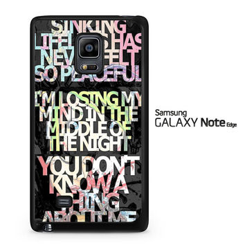 Ghost Town Band Lyrics A0616 Samsung Galaxy Note Edge Case