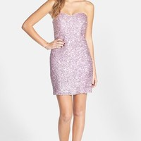 Junior Women's Jump Apparel Sequin Body-Con Dress