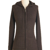 Mid-length Long Sleeve Hoodie Layer to Rely On Hoodie in Brown