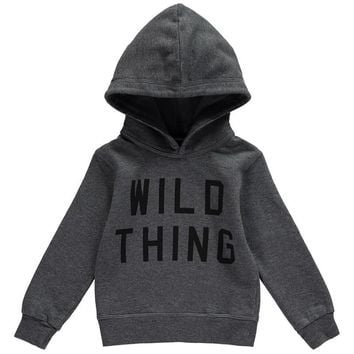 Dsquared2 Boys Grey 'Wild Thing' Sweatshirt Hoodie