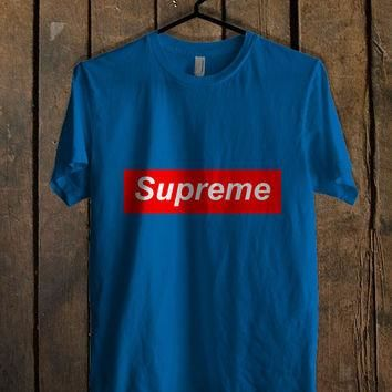 Supreme Logo Blue For Mens T Shirt and Womens T Shirt *76*