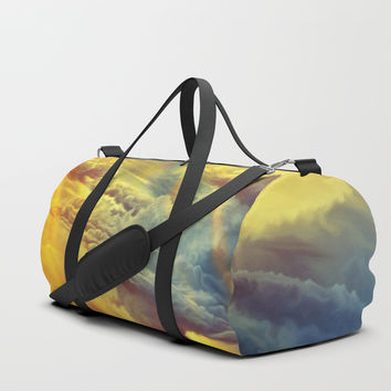 Flying in height Duffle Bag by exobiology