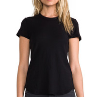 James Perse Sheer Slub Crew Neck Tee in Black | REVOLVE