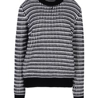 Proenza Schouler Chunky Crewneck Striped Sweater - Cashmere Sweater - ShopBAZAAR