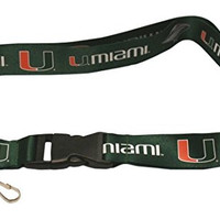 UNIVERSITY OF MIAMI HURRICANES GREEN BREAKAWAY LANYARD ( Football, Basketball, Softball, Baseball,NCAA)