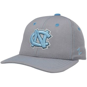 Zephyr North Carolina Tar Heels :UNC: Overcast Fitted Hat - Gray