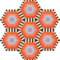 Honeycomb Carpet - Swizzle (7 piece Hexagon)