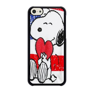 SNOOPY HEARTS AMERICA GIRLS PEANUTS iPhone 5C Case