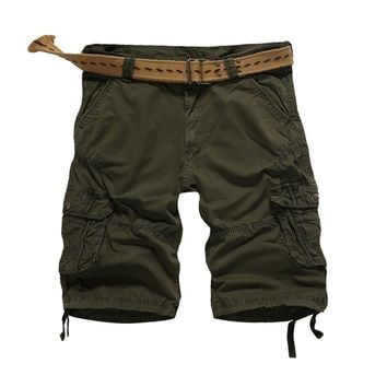 2017 Time-limited Button Flare Quality New Style Outdoors Men Short Pants Travel Beach Mens Cargo Casual Washing Size 30-4