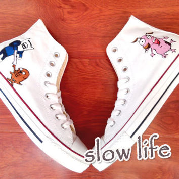 Adventure Time hand-painted  converse canvas shoes/Custom canvas shoes/Sneakers/ Cartoon Converse shoes/Anime graffiti shoes/ gifts/converse