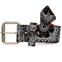 The Bandana Print Buckle Belt in Black