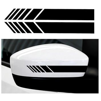 2pcs Car Styling Auto SUV Vinyl Graphic Car Sticker Rearview Mirror Side Decal Stripe DIY Car Body Decals 15.3*2cm