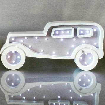Car (vintage) Night Light Nursery night light gift decor kids Marquee lights Gift Vintage Car light wall decor
