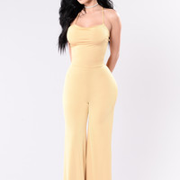 Forever Together Jumpsuit - Mustard