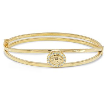Fronay Co Gold Plated Sterling Silver Virgin Milagrosa Bangle