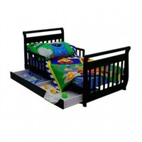 Dream On Me Sleigh Toddler Bed with Trundle in Black - 643K - Baby & Kids' Furniture - Furniture
