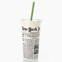 Insulated Tumbler in Newsprint by Kate Spade New York