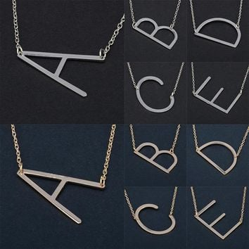 26 English alphabet pendant necklace jewelry clavicle chain