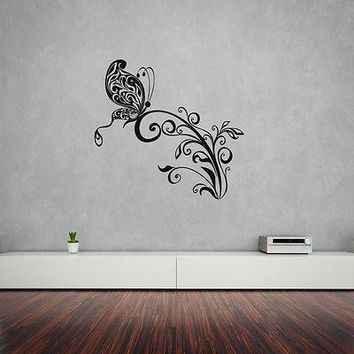 Wall Stickers Vinyl Decal Butterfly Abstract Decor Modern Style Unique Gift z1216