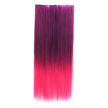 Hot Deal On Sale Beauty Sexy Hot Sale Wigs Dark Purple Gradient Rose Red Double Color Straight Hair Hair Extensions [4923177220]