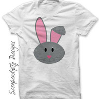 Toddler Bunny Shirt, Rabbit Iron on Transfer for Girls, Kids Easter Bunny Outfit, Bunny Digital File, Boys Rabbit Shirt, Newborn Baby Bunny
