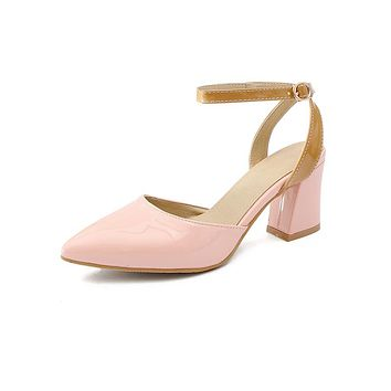 Pointed Toe Ankle Strap High Heels Sandals Summer Shoes 6536