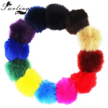 Furling DIY 1pc Great 8CM Faux Fur Pom pom Ball for Knitting Hats Accessories