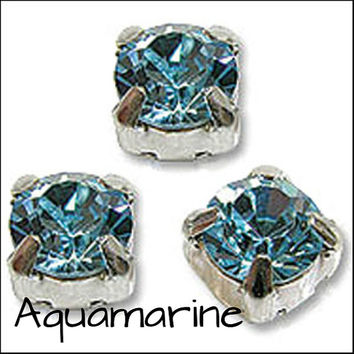 BULK BLUE SELECTION Pack of 1440 Rhinestone/Diamante/Crystal Sew On Round (5mm) - Accessories, Cakes, Bouquets, Jewellery, Costume!