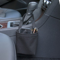 Car Cellphone Caddy ~ Solid Black ~ Center Console Handle
