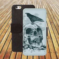 iphone 6 case bird Skull Pattern colorful iphone 4/4s iphone 5 5C 5S iPhone 6 Plus iphone 5C Wallet Case,iPhone 5 Case,Cover,Cases colorful pattern L489