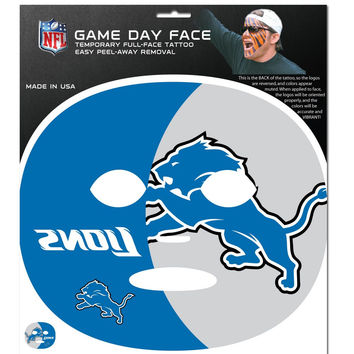 Detroit Lions Game Face Temporary Tattoo FGFD105