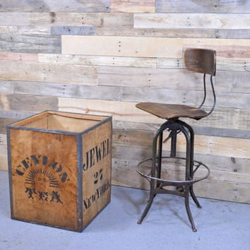1950s Tea Shipping Crate, LARGE Ceylon Tea Box, Wood Box, Wood Crate