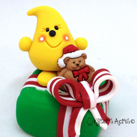 Simple Christmas Gifts Parker StoryBook Scene - Twelve Days of Christmas Polymer Clay Character Sculpted Figurine