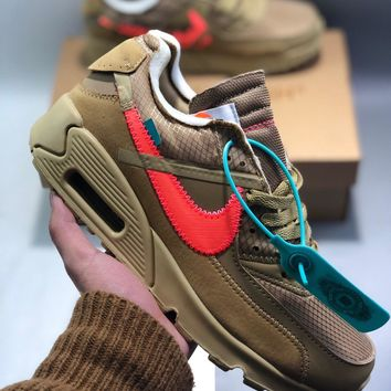 NIKE Air Max 90 x OFF-WHITE Men s and women s cheap nike shoes 493d759d9