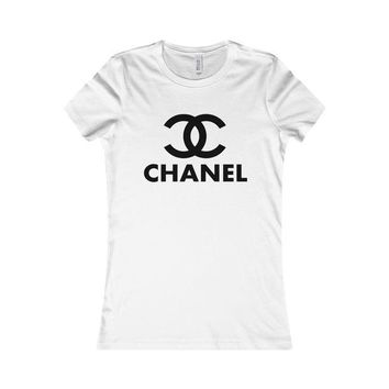 Chanel Fashionable Women Print Casual Favorite T-Shirt Top White I
