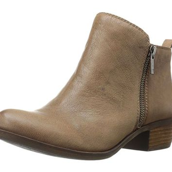 Lucky Brand Basel Brindle Goat Tide Leather Booties