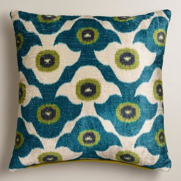 Cool Blue Taza Throw Pillow