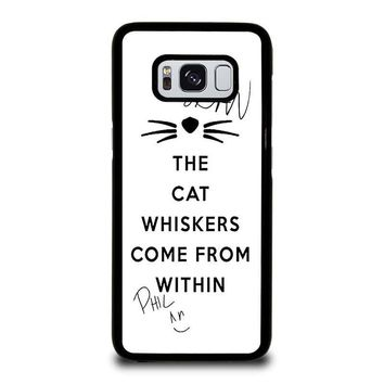 THE WHISKERS DAN AND PHIL Samsung Galaxy S3 S4 S5 S6 S7 Edge S8 Plus, Note 3 4 5 8 Case Cover