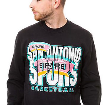 Mitchell & Ness Sweater San Antonio Spurs Technical Foul Fleece in Black