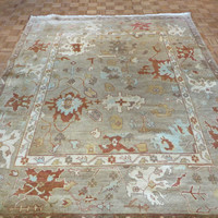 8 x 10 Hand Knotted Camel Oushak Oriental Rug