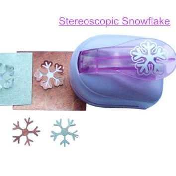 Stereoscopic Snowflake Shaped Punch Craft Foam Puncher Handmade DIY Tools Paper Cutter Hole Punch Scrapbook Big Snow Embossing