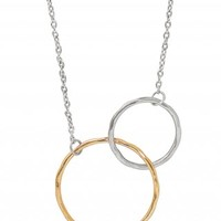 14kt Gold & Silver Circle Necklace | Together Forever Necklace | Stella & Dot