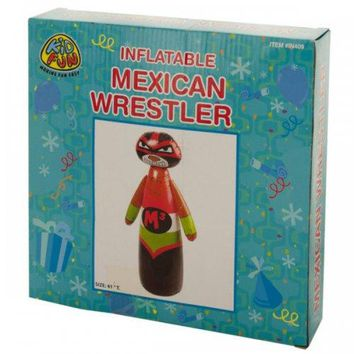Inflatable Mexican Wrestler Punching Bag