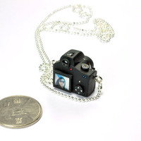 Personalized Canon 600D Camera miniature necklace